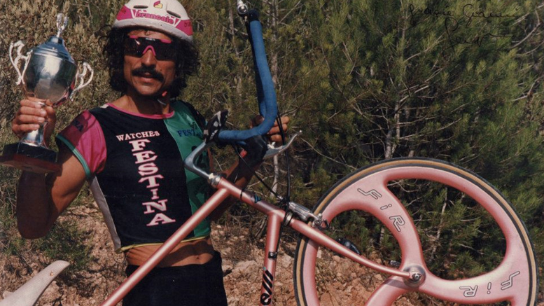 S. Ferrero (ITA) end of the 80s at the Quadrathlon in Ibiza