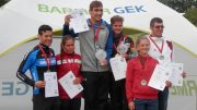 World Cup Podium at Quadrathlon in Ratscher (GER) 2017 (c) S. Teichert